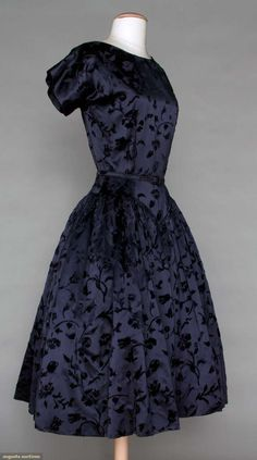 Augusta Auctions, November 2, 2011 NYC, Lot 93: Traina-norell Midnight Blue Party Dress, C. 1955