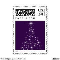 Tree of Lights Postage