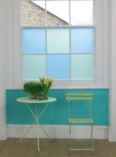 pale blue window film