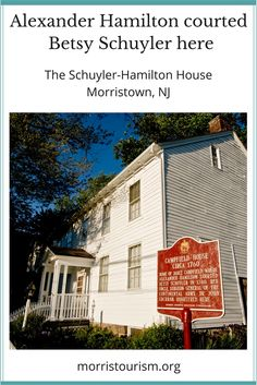 Fans of the Broadway musical Hamilton? Come see where Alexander Hamilton courted his future wife, Betsy Schuyler. In Morristown, NJ. Great for a day trip!