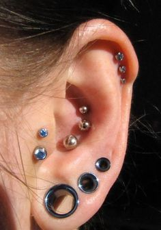 Three-in-a-row piercings