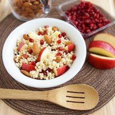 Couscous Apple Pomegranate Salad. Variations: pistachio, cinnamon, fig ...