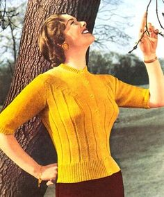 Knitting fashion 1940s