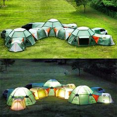Camping Tent Fort - They zip together to make a tent fort.