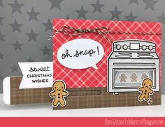 Lawn Fawn Sprinkled with Joy & Oh Snap! | Gingerbread Men Christmas Card