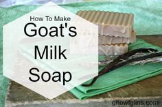 The products we use on our body should be just as safe and clean as the food we put into our bodies. One of the best ways to make sure of this is to make your own bath and body products, and this tutorial will show you how to make your own goat's milk soap. It's easier than you might think! GNOWFGLINS.com