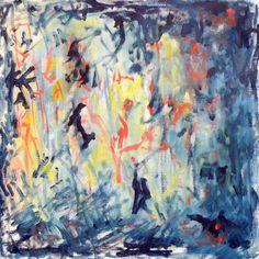 Glenn Gould Plays Bach (II) Oil on canvas, 40x40 cm