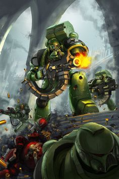 """the-emperor-protects: """"Amazing 40k Art by: jeffszhang. """""""