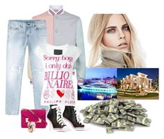 """I Only Date Billionaires "" by katiethomas-2 ❤ liked on Polyvore featuring Burberry, Thom Browne, Yves Saint Laurent, Philipp Plein, Sophie Hulme, Bulgari and Moschino"