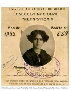 Frida Kahlo's report card, 1922
