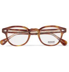MOSCOT — Lemtosh Round-Frame Tortoiseshell Acetate Optical Glasses