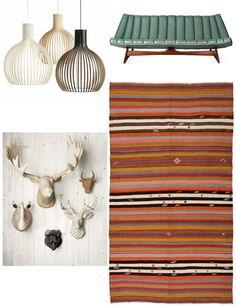 A great combination of Traditional Anatolian kilims and Scandinavian Style Scandinavian Design, Scandinavian Interiors, Mix Style, Kilims, Modern Bohemian, Modern House Design, Fabric Decor, Contemporary Interior, Modern Decor