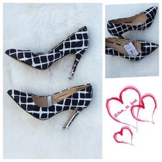 Adam Lippes for Target Black/White Heels 7.5 NWT Adam Lippes for Target Women's Black White Plaid Pointed Pumps . For a dressed-up take on a dressed-down print, you'll love these line-crossing Pointed Toe Pumps in Black White Painterly Plaid from Adam Lippes for Target. These sophisticated high heels add a chic, modern-art air to any ensemble with a windowpane plaid print featuring fresh white lines that gently bleed into a rich black.  7.5 NWT Adam Lippes for Target Shoes Heels