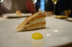Astrance: tarte of foie gras, mushroom, apple, citrus zest, hazelnut oil