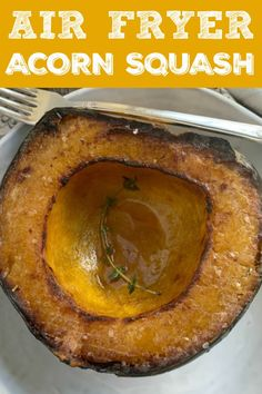 Make this Air Fryer Acorn Squash as a simple side dish or for using mashed acorn squash in another recipe. Air Fryer Recipes Vegetables, Air Fryer Recipes Vegetarian, Air Fryer Recipes Low Carb, Air Fryer Recipes Breakfast, Vegetable Recipes, Veggies, Airfryer Breakfast Recipes, Air Fryer Cake Recipes, Breakfast Pizza