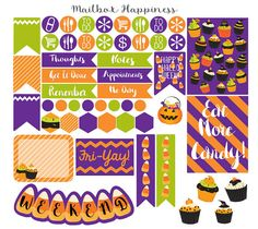 Erin Condren Halloween Planner Stickers by MailboxHappiness