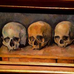 {Art} Cezanne #art #painting #skulls