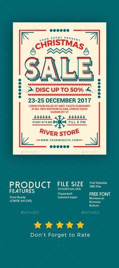 #Christmas Sale #Flyer - Flyers Print Templates