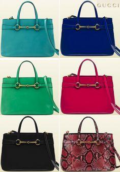 Gucci Bright Bit: Light Blue, Blue Sapphire, Jasmine Green, Shocking Pink, Black and Shocking Pink Python