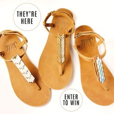 You & your BFF's can be the first to rock these brand new, buttery-soft caramel leather T-straps! Enter to win!