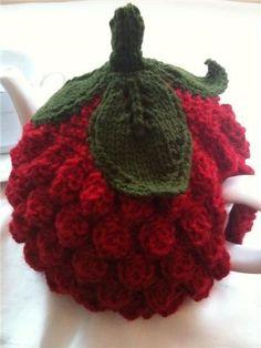 Knit or Crochet tea cozy! / Berry tea cozy!