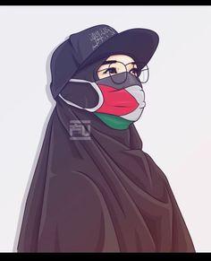 Art Palestine, Palestine Girl, Cute Muslim Couples, Muslim Girls, Muslim Women, Hijabi Girl, Girl Hijab, Photos Islamiques, Hijab Drawing