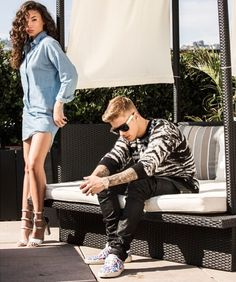 Justin Bieber Photoshoot Starring Him With Model Ashley Moore