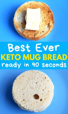 low carb yum 90 Second Keto Mug Bread That Will Keep You Full & Satisfied. This easy low carb keto mug bread is the BEST. You only need 4 ingredients to make this keto 90 sec bread and you Keto Friendly Desserts, Low Carb Desserts, Low Carb Recipes, Keto Mug Bread, Best Keto Bread, Keto Bread Coconut Flour, Keto Banana Bread, Keto Pancakes, Bread Recipes
