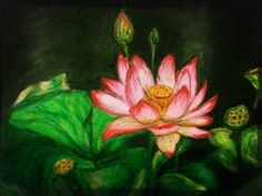 The lotus - my friend Irene's art.