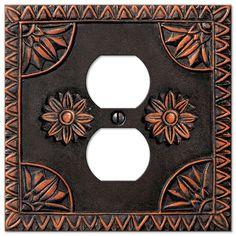 home u003e switchplate covers amerelle decorative wallplates york resin single duplex wallplate in