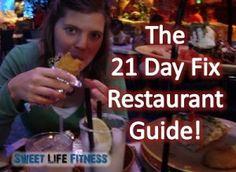 21 Day Fix Restaurant Guide