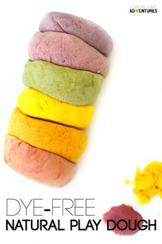 Dye Free Natural Play Dough | super easy natural recipe for kids of all ages
