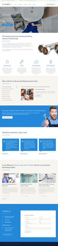 PlumberPro is Premium Responsive #HTML5 template. Bootstrap 3 Framework. If you like this #Plumber template visit our handpicked list of best #PlumbingWebsite Templates at: http://www.responsivemiracle.com/best-plumbing-website-templates/