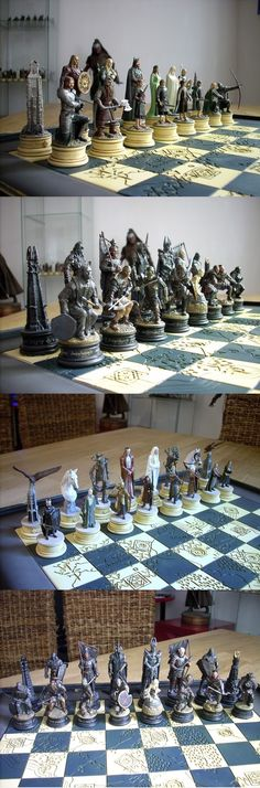 This chess set. It is beautiful. It's hard to tell but it looks like the map of middle earth is carved into the board. Someone tell me where to buy this
