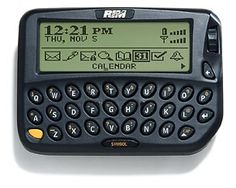 The device that started it all, the Interactive Pager, introduced the world to thumb keyboards and thumb wheel scrolling to navigate its pixel screen. It ran on the Mobitex data-only network. RIM launched the device in Blackberry Devices, Blackberry Email, Flash Memory, Steve Jobs, Inventions, Evolution, Calendar, Iphone, History