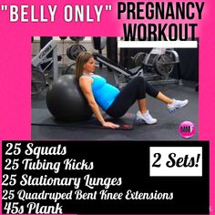 Great pregnancy workout to prevent excess weight gain and be able to lose baby weight fast postpartum.  Safe pregnancy exercises for all trimesters.  http://michellemariefit.publishpath.com/belly-only-pregnancy-workout