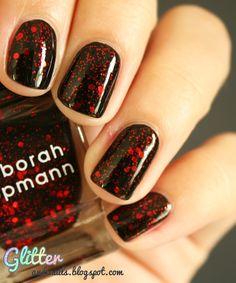 Glitter and Nails: Halloween Alert ! Deborah Lippmann Ruby Red Slippers  http://glitterandnails.blogspot.fr