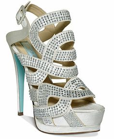 cd152901f10c1 Wedding or Party Shoes · Blue by Betsey Johnson Love Platform Evening  Sandals Blue By Betsey Johnson