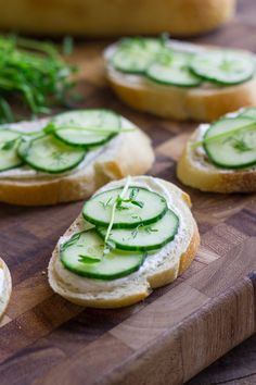 Cucumber Sandwiches with Whipped Goat Cheese - perfect for get-togethers, brunches, teas, or a light, healthy lunch.