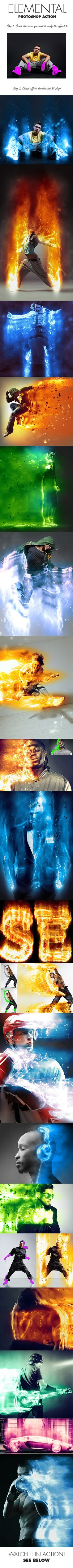 Elemental Photoshop Action - Photo Effects Actions