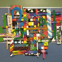 Collaborative cardboard sculpture