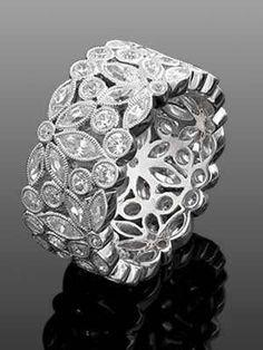 Art Deco Eternity Diamond ring <3