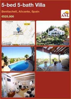 5-bed 5-bath Villa in Benitachell, Alicante, Spain ►€525,000 #PropertyForSaleInSpain
