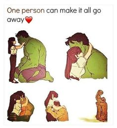 Hulk transformation from love New Love Memes, Cute Memes For Her, Sweet Love Memes, Love You Meme, Love Memes Funny, Love Cartoon Couple, Cute Couple Comics, Couples Comics, Easy Disney Drawings