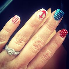 thenikkiwatson's festive tips. Show us your 4th of July-inspired nails! Tag your pic #SephoraNailspotting to be featured on our social sites.