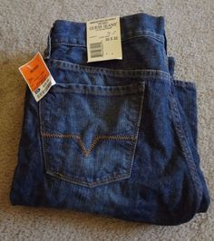 Guess Men's 30-32 100% Cotton Jeans NWT Made In Mexico Laurel Wash MSRP $89.00 #Guess #BootCut