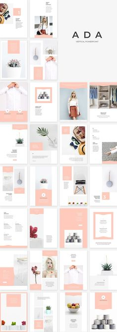 Ada Vertical PowerPoint by SlideStation on @creativemarket #templates #presentation #fashion #feminine #vertical #layout #inspiration #powerpoint