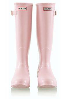 Light Pink Hunter Wellies