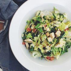 """Chopped Salad @oliveandthyme. #valleybrinkroad #vbrfood #tolucalake #oliveandthyme #eeeeeats"" Photo taken by @valleybrinkroad on Instagram, pinned via the InstaPin iOS App! http://www.instapinapp.com (02/11/2015)"