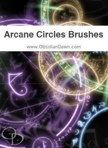 Arcane Circles Brushes Gimp Brushes, Photoshop 7, Fantasy Paintings, Photo Manipulation, Brush Set, Circles, Dawn, Halloween, Rings